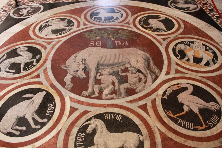 The pavement inside the Siena Duomo is a work of art