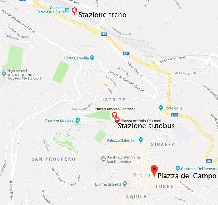 Cartina Roma Mezzi Pubblici.Visita Siena Senza La Macchina Come Arrivare A Siena Con Il Treno E Bus