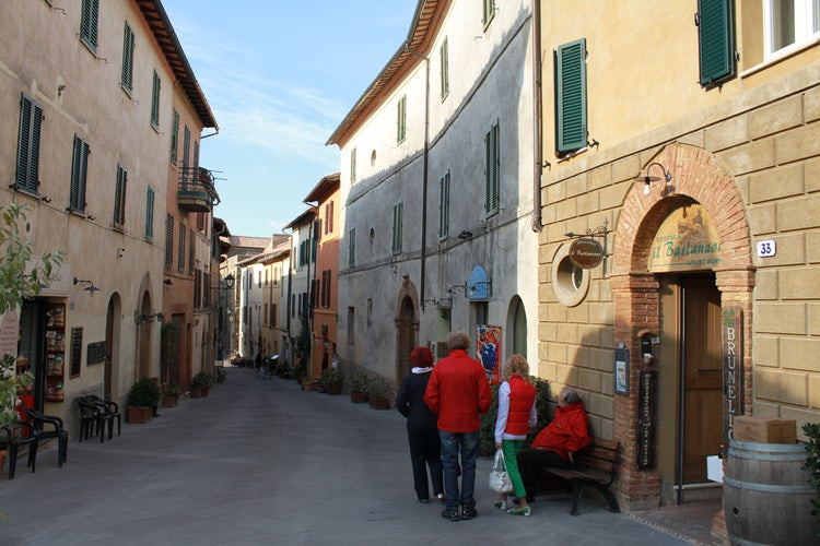 Picturesque streets of Montalcino
