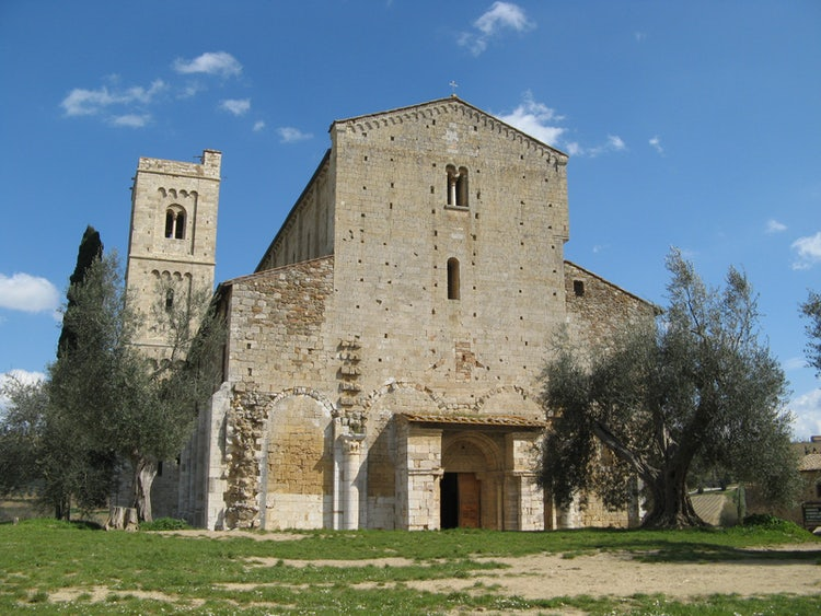 The Abbey of Sant'Antimo near Montalcino