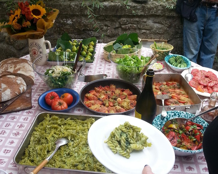 Italian Lunch for the Vendemmia
